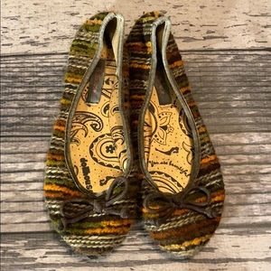 Doll House Multicolored Flats Shoes Size 6 1/2
